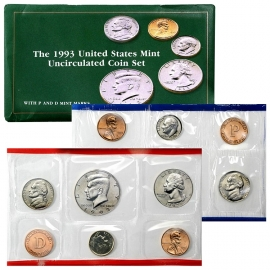 1993 Uncirculated D & P Coin Sets