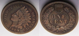 1907 I.H.Cent Better Grade w/Liberty