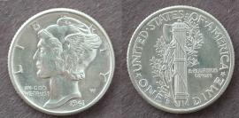 1941-D BU Mercury Dime Nice Coin
