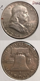 1958-D U.S. Franklin Half Dollar ~Silver~High Grade ~
