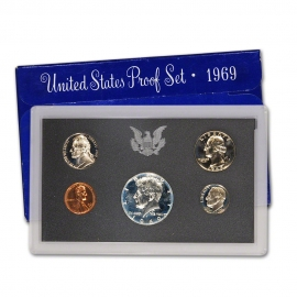 1969-S   1/2 Dollar Coin to 1 penny Proof Set