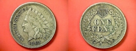 1863 INDIAN HEAD CENT COPPER- NICKEL