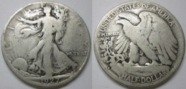 1927-S 50C Silver Walking Liberty Half Dollar FREE Shipping