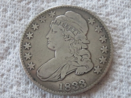 1833 CAPPED BUST HALF DOLLAR Nice Coin Higher Grade Extra Fine Coin