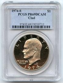 1974 S Eisenhower PCGS PR69 DCAM